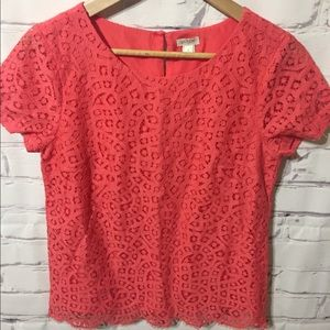 J. Crew size 0 salmon top - brand new with tags!